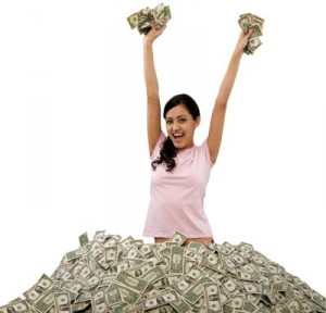 деньги девушка
